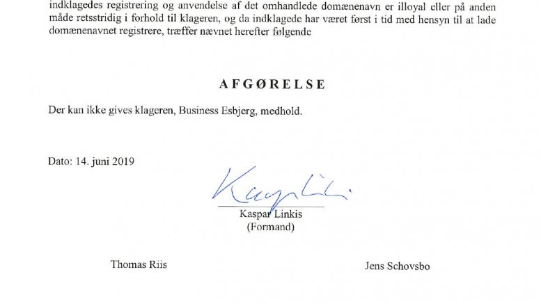 """Domænet """"BusinessEsbjerg.dk"""" forbliver en del af DanmarksBusiness"""